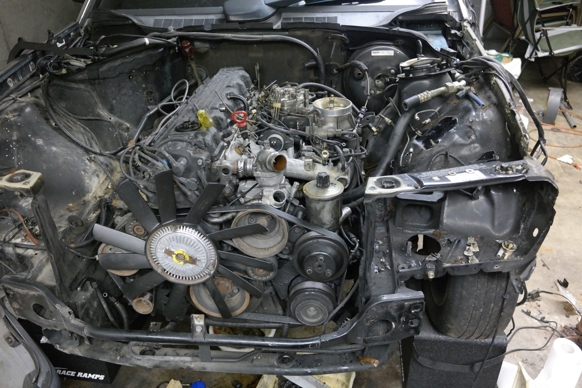 1993 190E 2 6 project with 5-speed swap in Kansas City